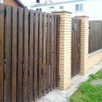 Забор из штакет доски